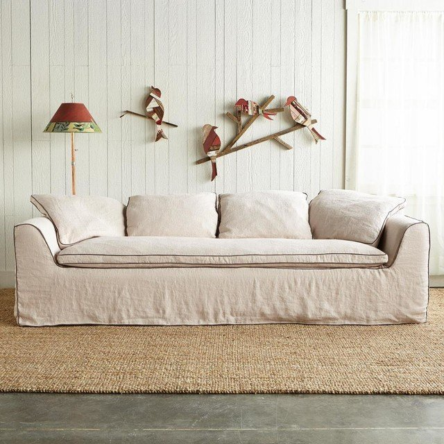 Best slipcovered sofa home furniture design - Choosing the best slipcover fabrics for your home ...