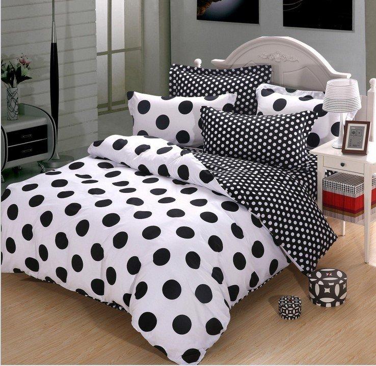 Black And White Polka Dot Duvet Cover Home Furniture Design
