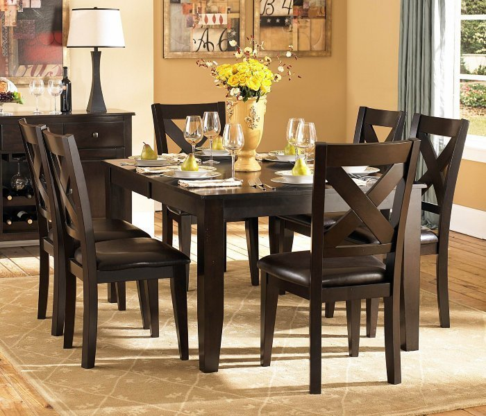 Cheap 7 piece dining room sets home furniture design for Cheap dining room sets