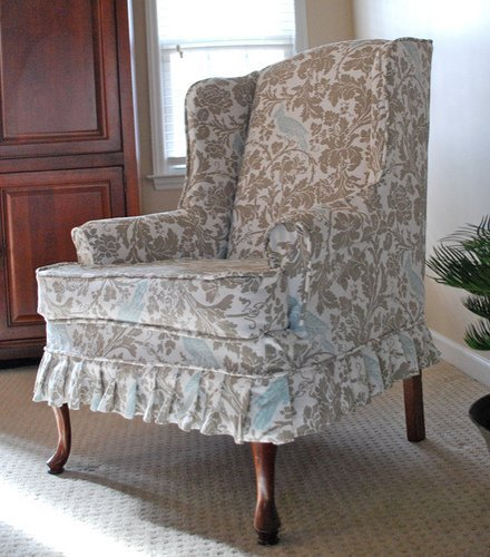 Cheap Wing Chair Slipcovers Home Furniture Design
