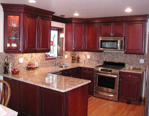 Cherry Oak Cabinets Kitchen Home Furniture Design