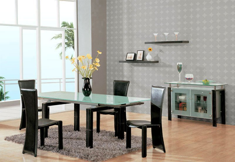 Contemporary dining room furniture sets home furniture design - Modern furniture dining room set ...