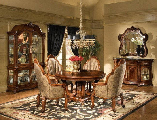 Elegant dining room furniture sets home furniture design - Elegant dining room chairs ...