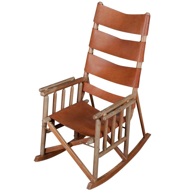 Folding Wooden Rocking Chair - Home Furniture Design