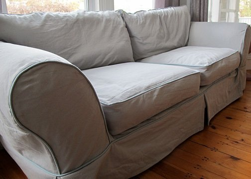 Grey Slipcover Home Furniture Design