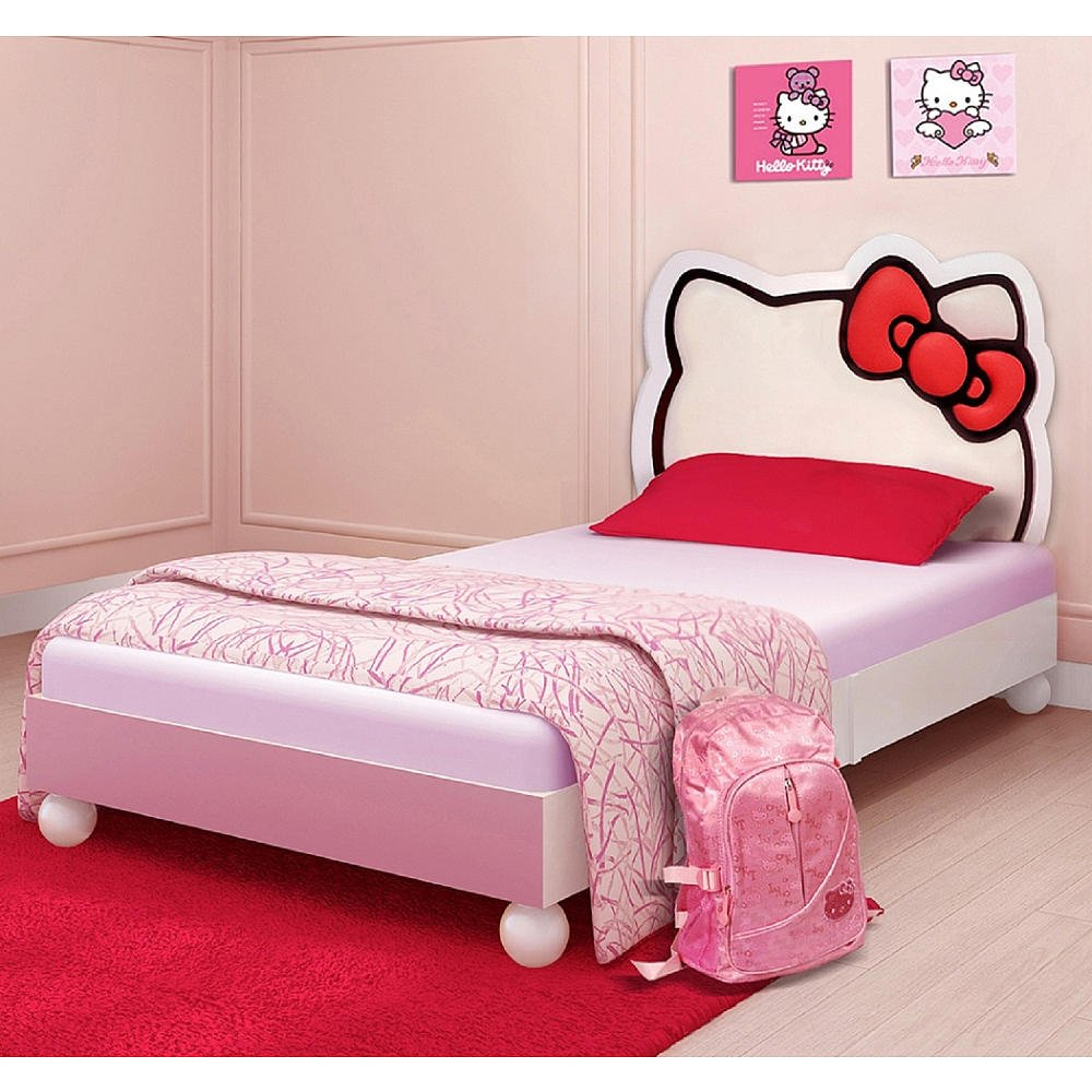 Hello kitty twin bedding set home furniture design for Bed and bedroom sets