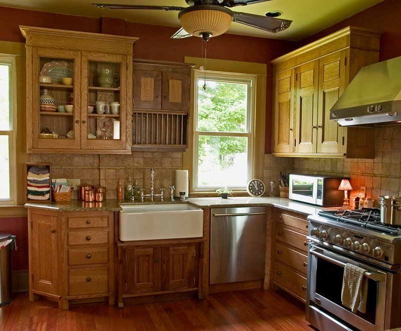 Cleaning oak kitchen cabinets lovely what to use to clean for Best way to wash kitchen cabinets
