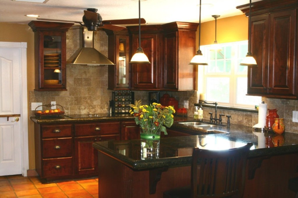 Kitchen backsplash ideas for dark cabinets home for Backsplash ideas with black cabinets