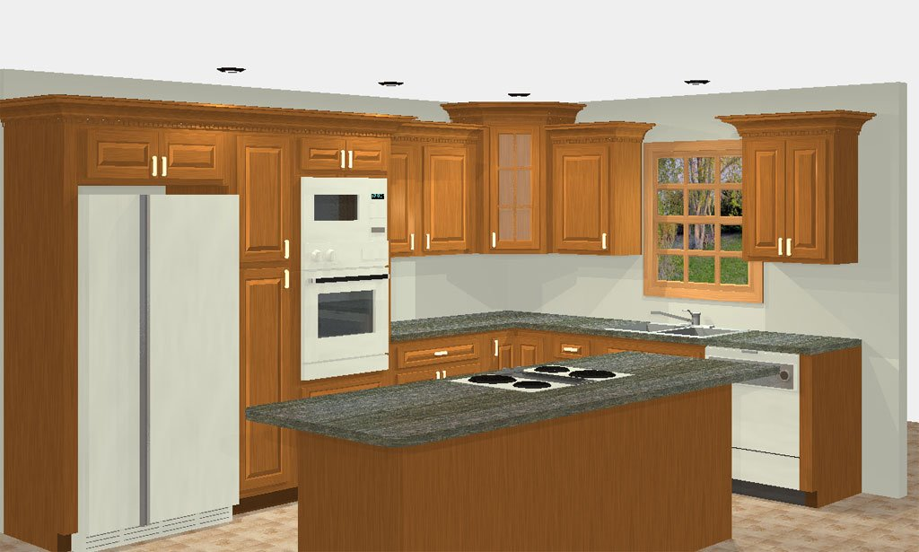 Kitchen cabinet layout ideas home furniture design for Kitchen designs and layout