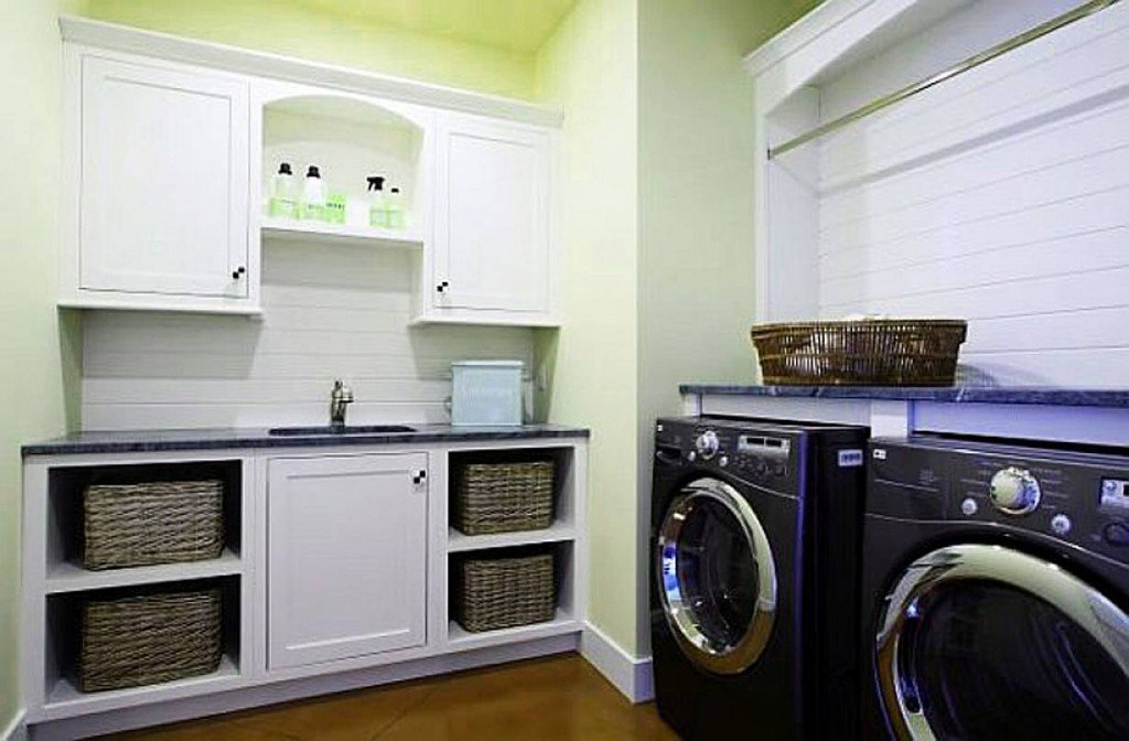 Laundry room cabinets home furniture design for Utility room design