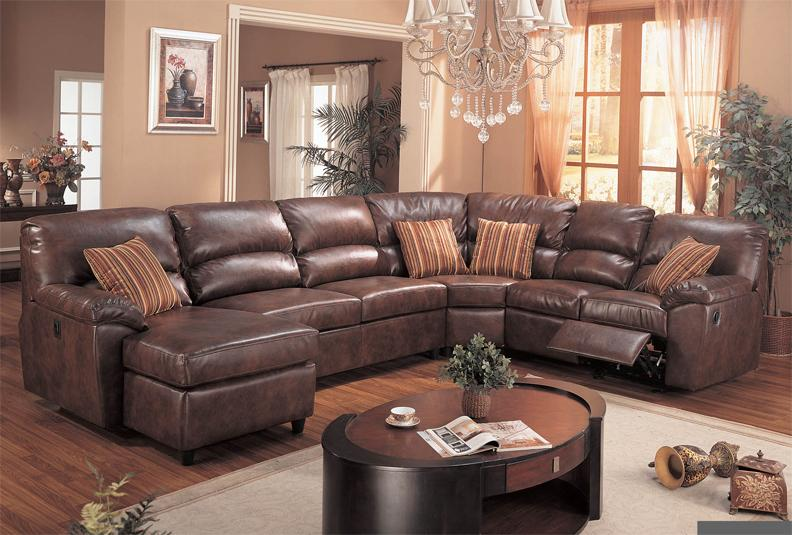 Leather Reclining Sectional Sofa With Chaise Home