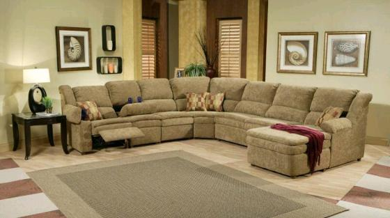 Leather Sectional Sofas with Recliners and Chaise - Home ...
