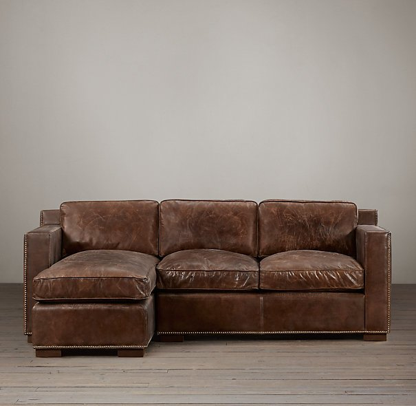 Leather Sofa with Chaise - Home Furniture Design