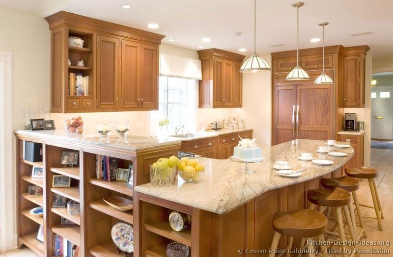 Small Country Kitchen Oak Cabinets