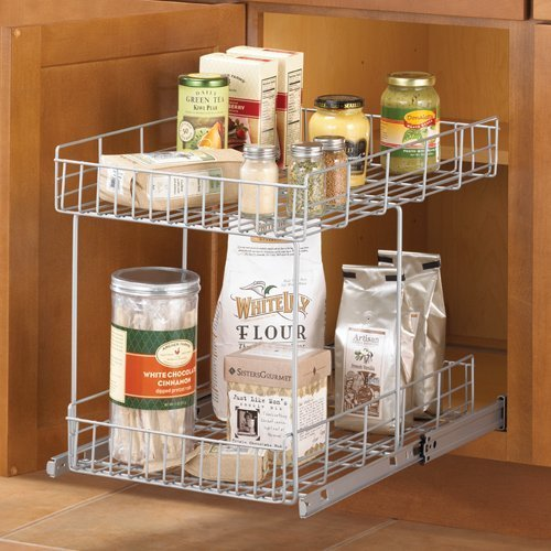 Metal pull out cabinet basket home furniture design for Basket for kitchen cabinets