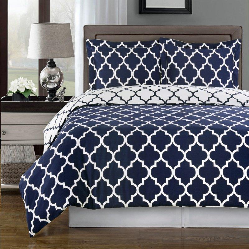 navy blue and white duvet cover home furniture design. Black Bedroom Furniture Sets. Home Design Ideas