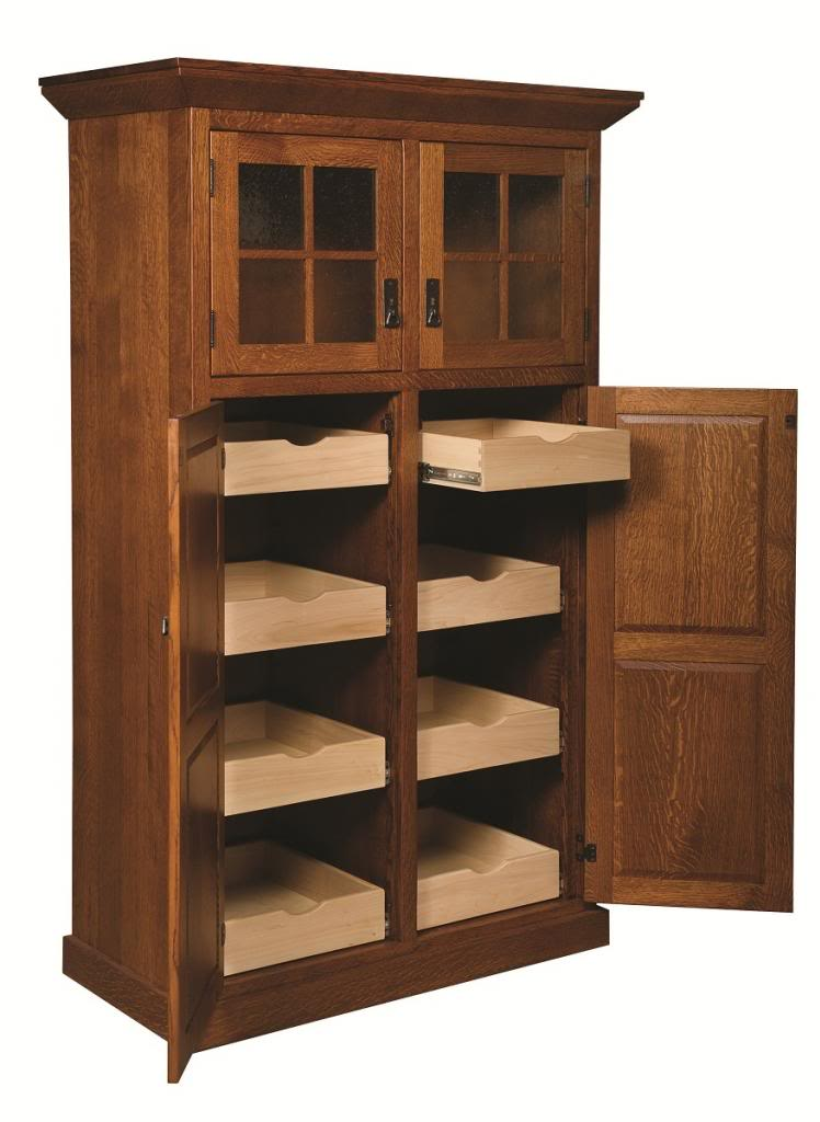 Oak Kitchen Pantry Storage Cabinet Home Furniture Design
