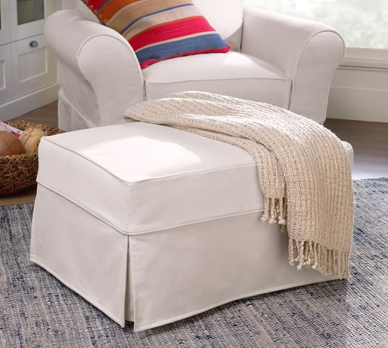 Ottoman Slipcover Pottery Barn Home Furniture Design