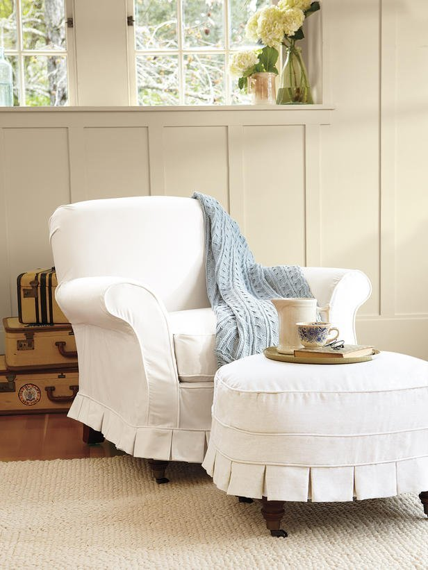 Pottery Barn Slipcover Chair Home Furniture Design