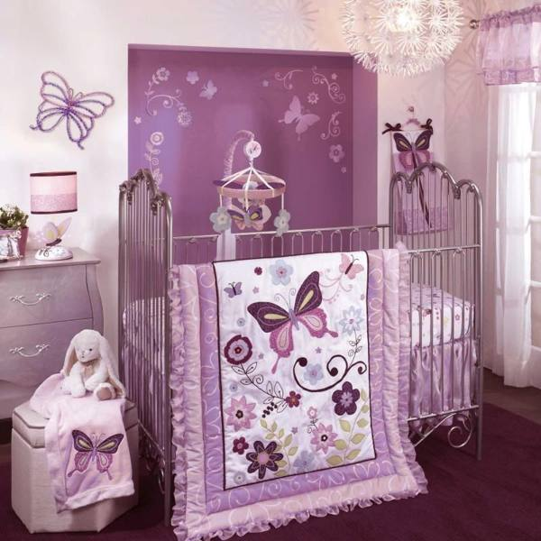 Baby Girl Themed Bedroom Ideas: Purple Baby Bedding Sets