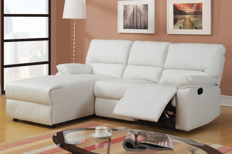 Reclining sofa with chaise lounge home furniture design for At home designs sedona leather chaise recliner