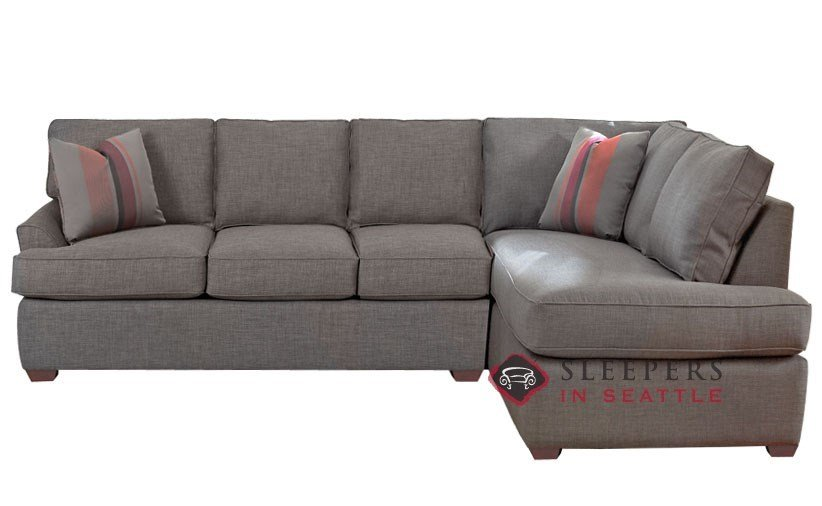 Small sectional sleeper sofa chaise home furniture design for Mini sectional sleeper sofa