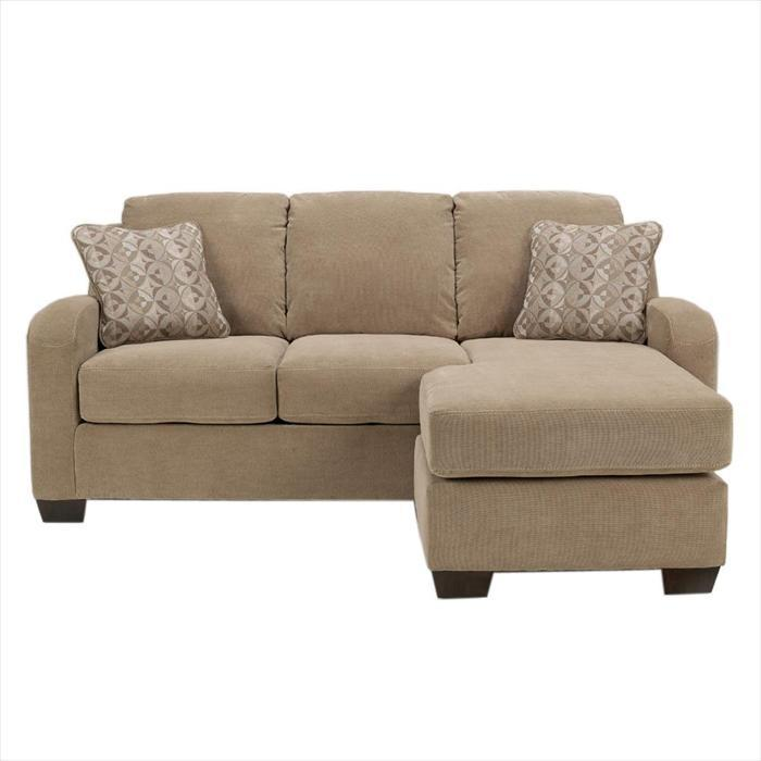 Small sofa with chaise home furniture design for Ashley circa taupe sofa chaise