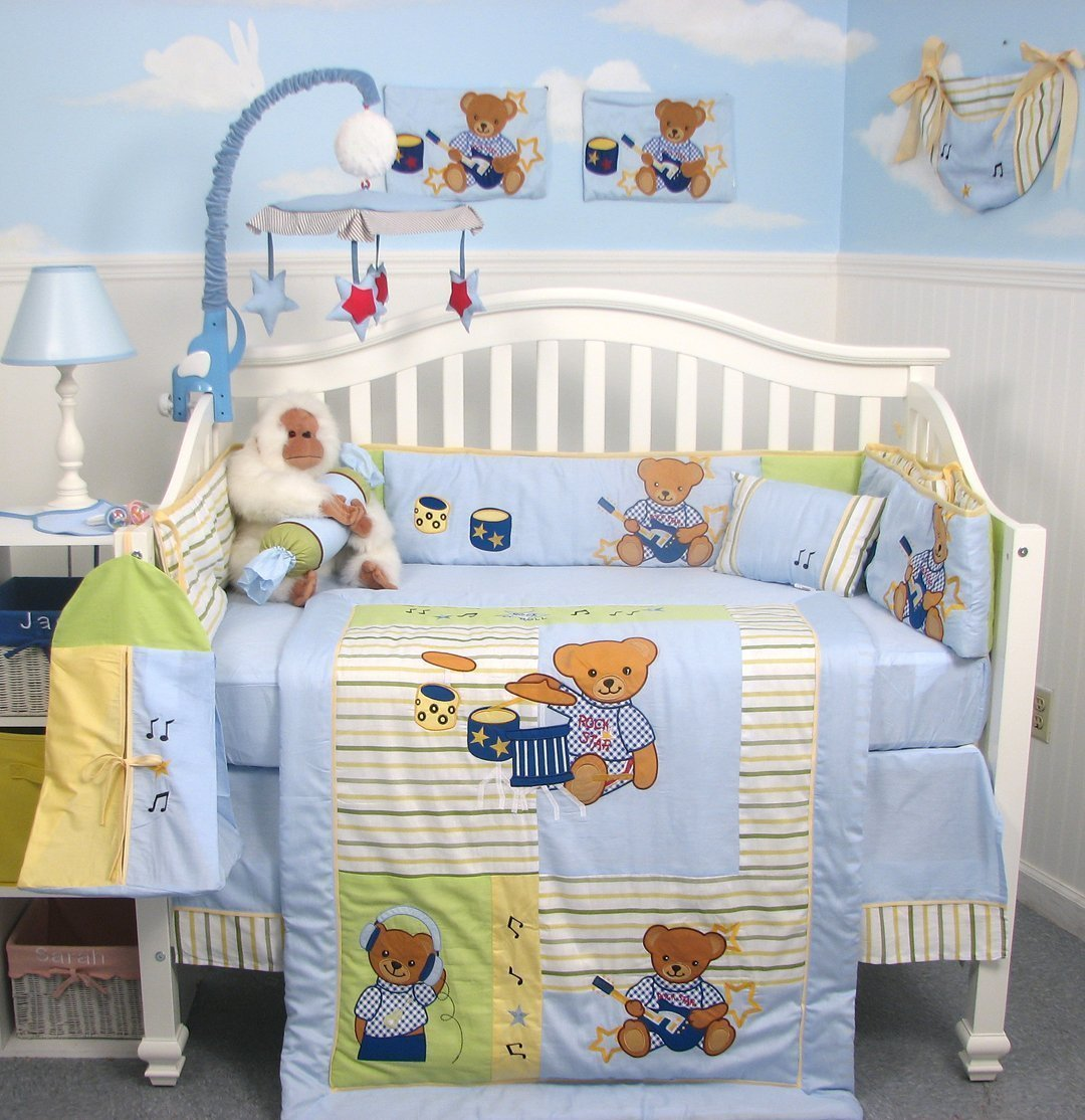 Blue And Yellow Crib Bedding Sets