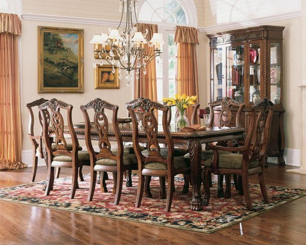 Traditional dining room furniture sets home furniture design for Classic dining room furniture