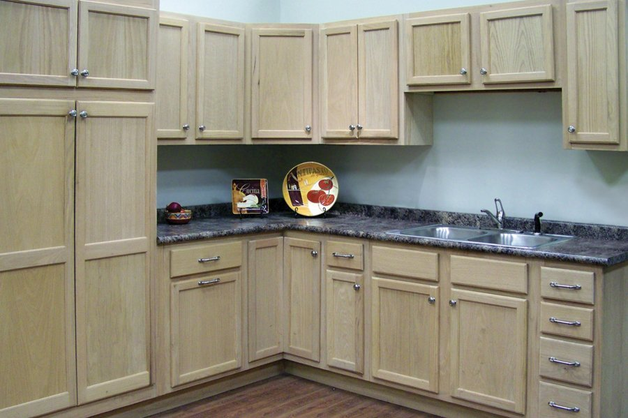 Unfinished oak kitchen cabinets home furniture design for Kitchen cabinets 60056