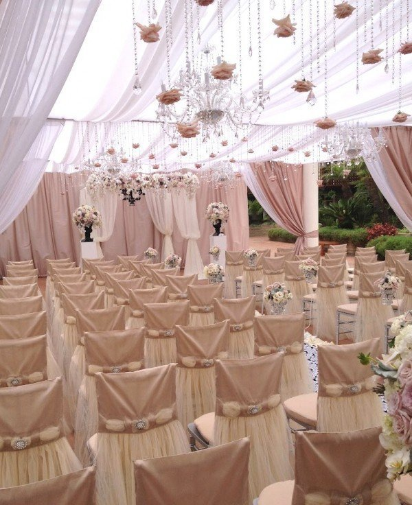 Used wedding chair covers home furniture design for Chair covers for wedding design