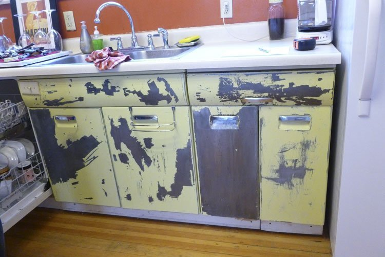 Vintage metal kitchen cabinets home furniture design Metal kitchen cabinets