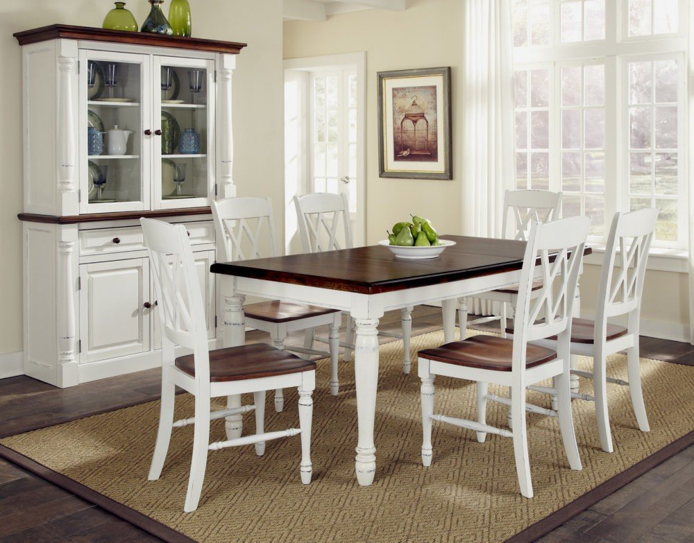 White dining room furniture sets home furniture design for White wood dining room chairs