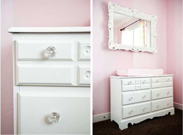 White Dresser With Crystal Knobs Home Furniture Design