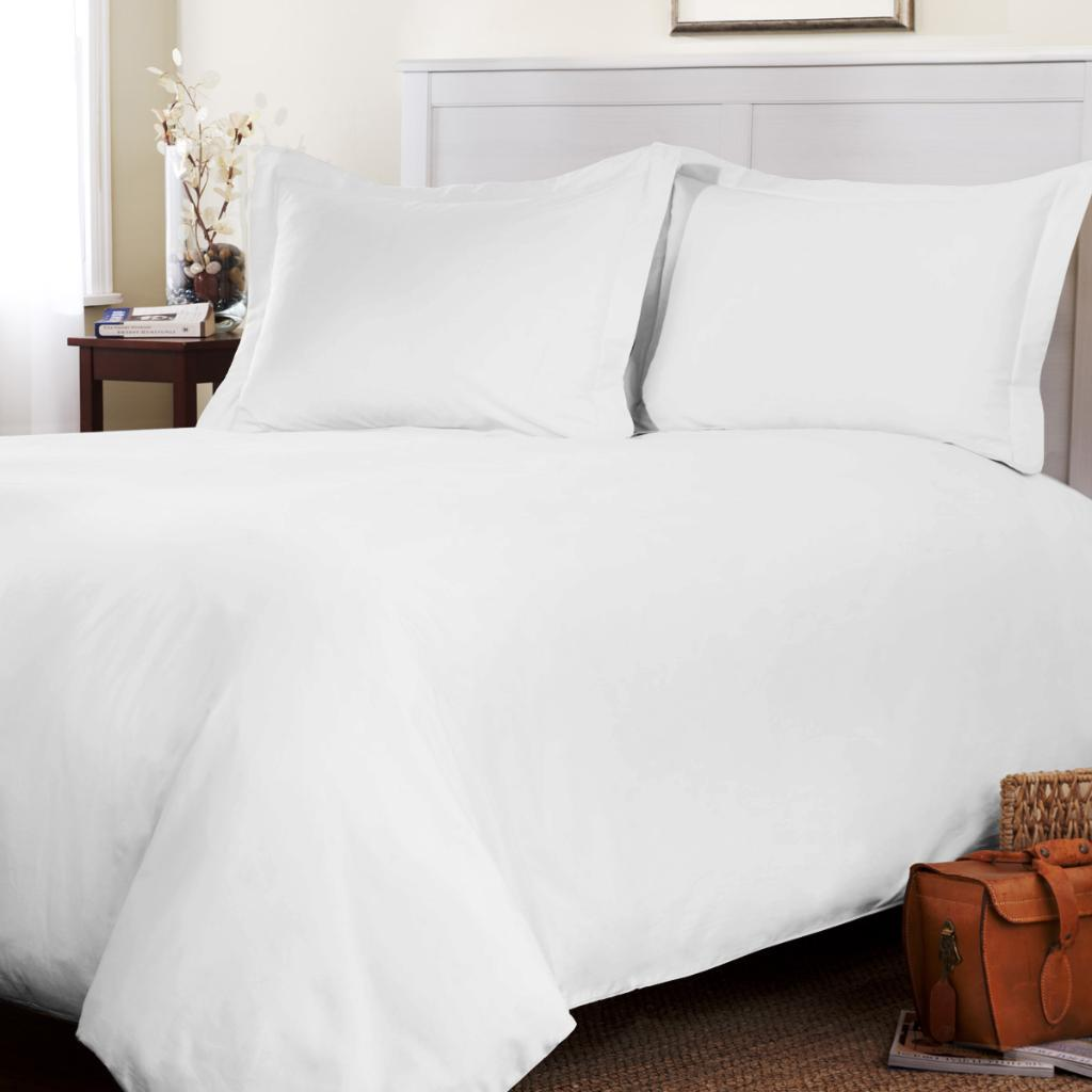 White Duvet Cover Defines Bedroom With Purity Home