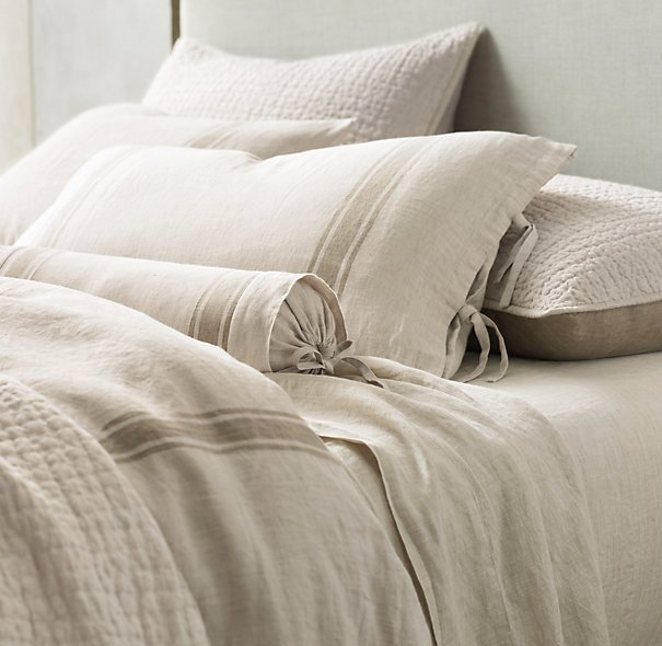 White Linen Duvet Cover King Home Furniture Design