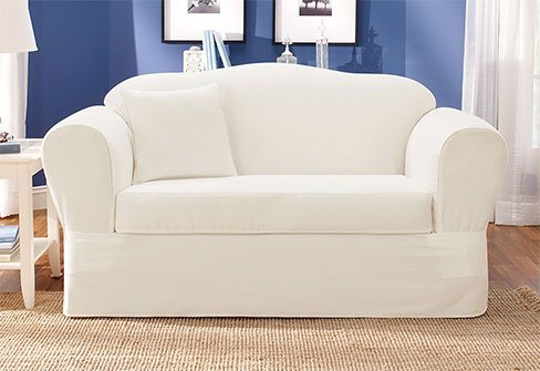 White Sofa Slipcover Home Furniture Design