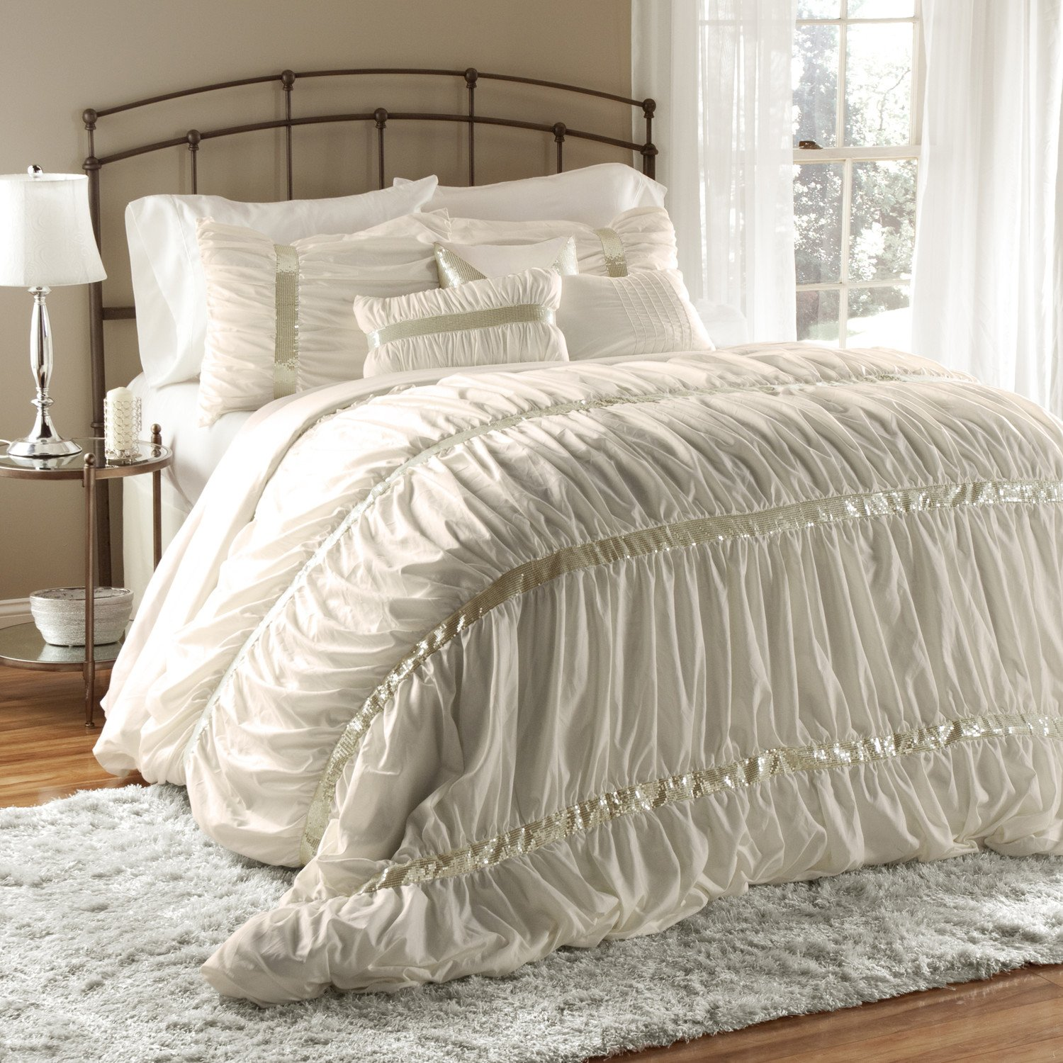 7 piece bedding set home furniture design for Home designs comforter
