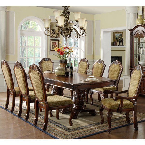 9 pc dining room set home furniture design - Pc dining room set ...