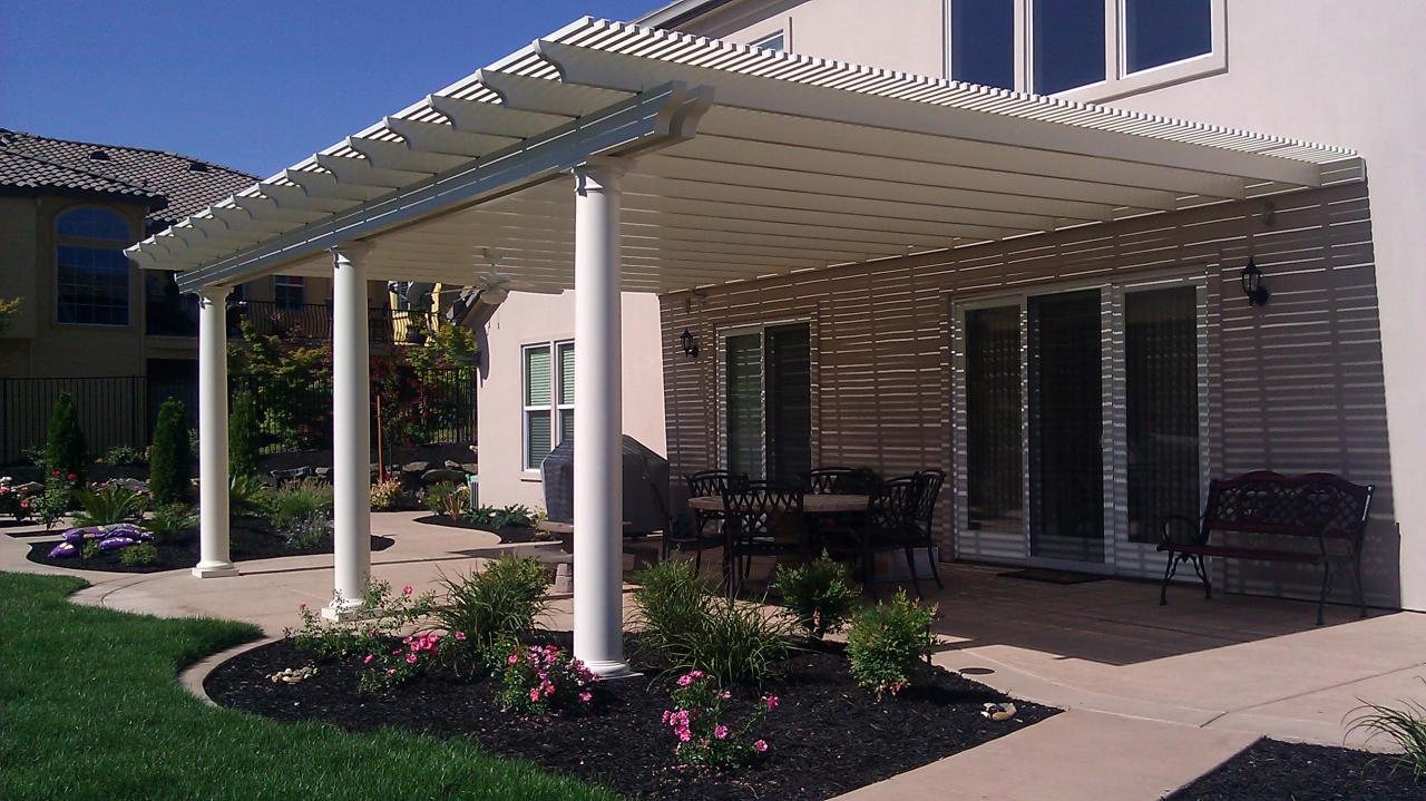 Aluminum lattice patio covers home furniture design for Shade house plans