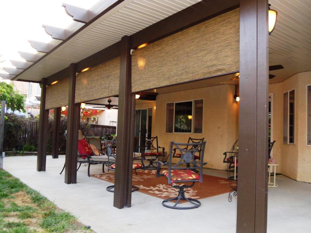 Aluminum Wood Patio Cover - Home Furniture Design
