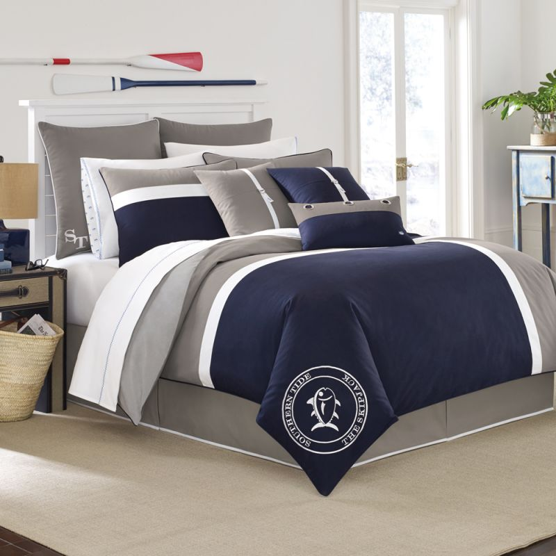 Black and grey bedding sets home furniture design - Gray and black comforter set ...