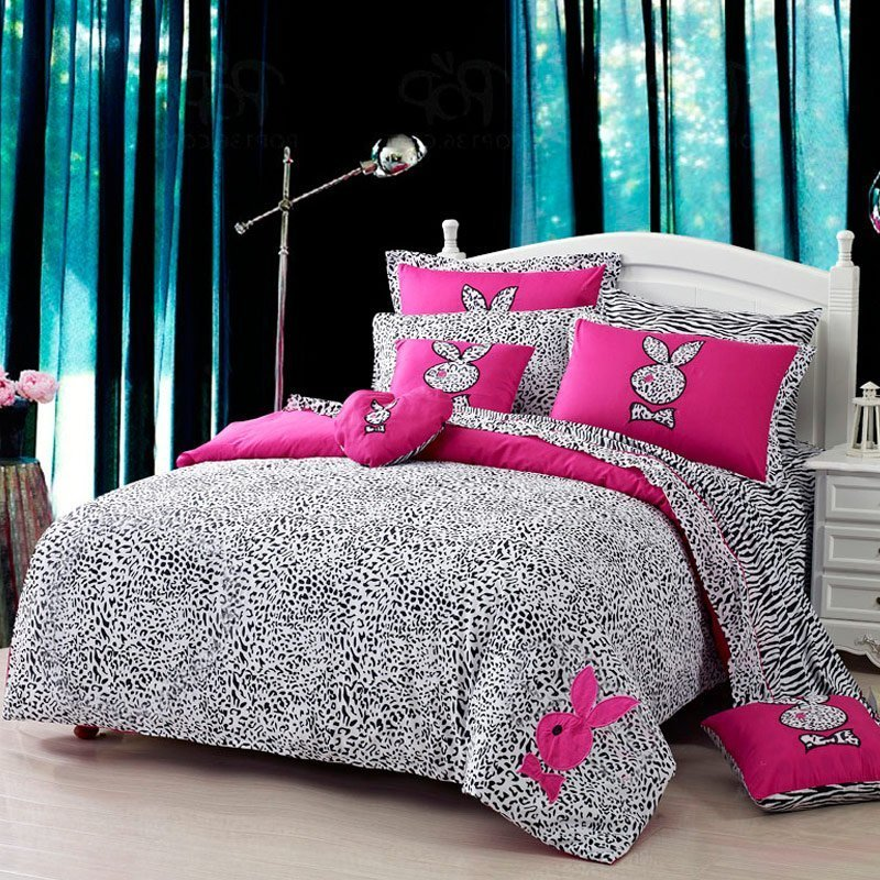 Black And Pink Bedding Sets Home Furniture Design