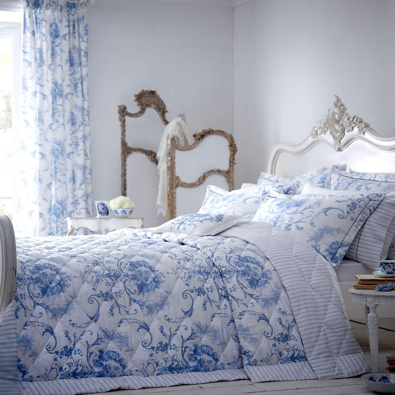 Blue Toile Bedding Sets Home Furniture Design