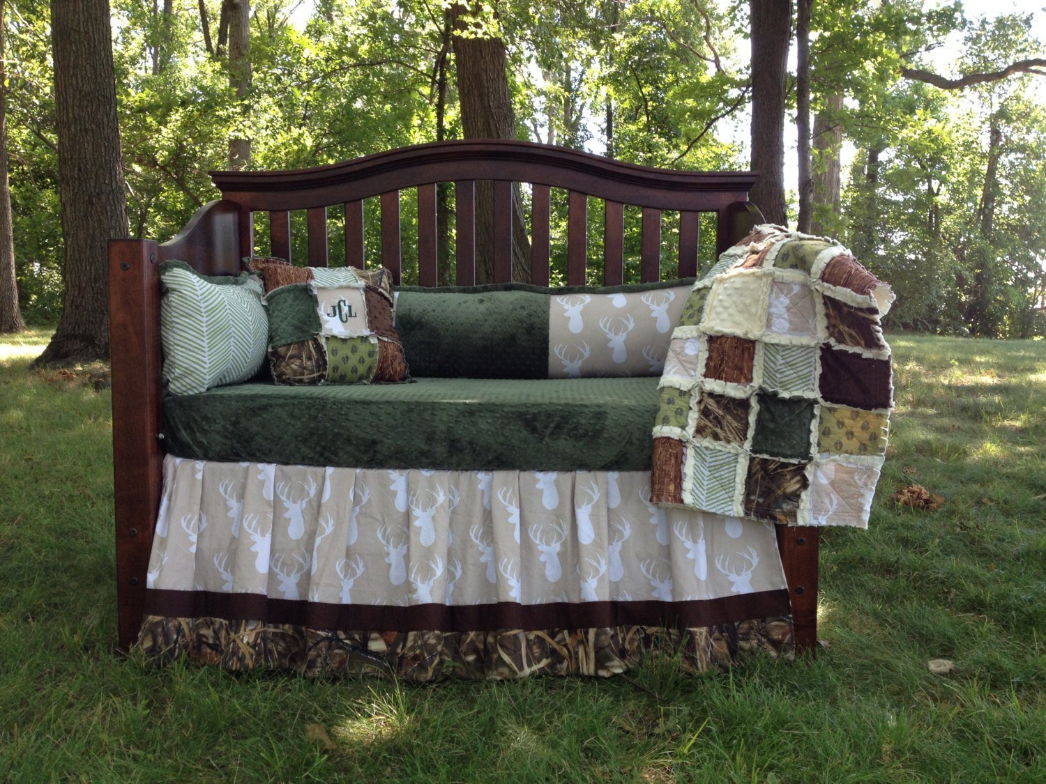 Camo Crib Bedding Set Home Furniture Design
