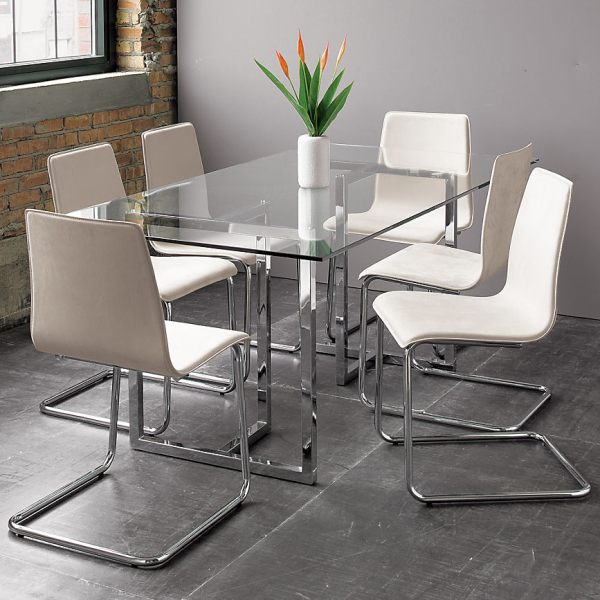 Contemporary Dining Set Of Contemporary Glass Dining Room Sets Home Furniture Design