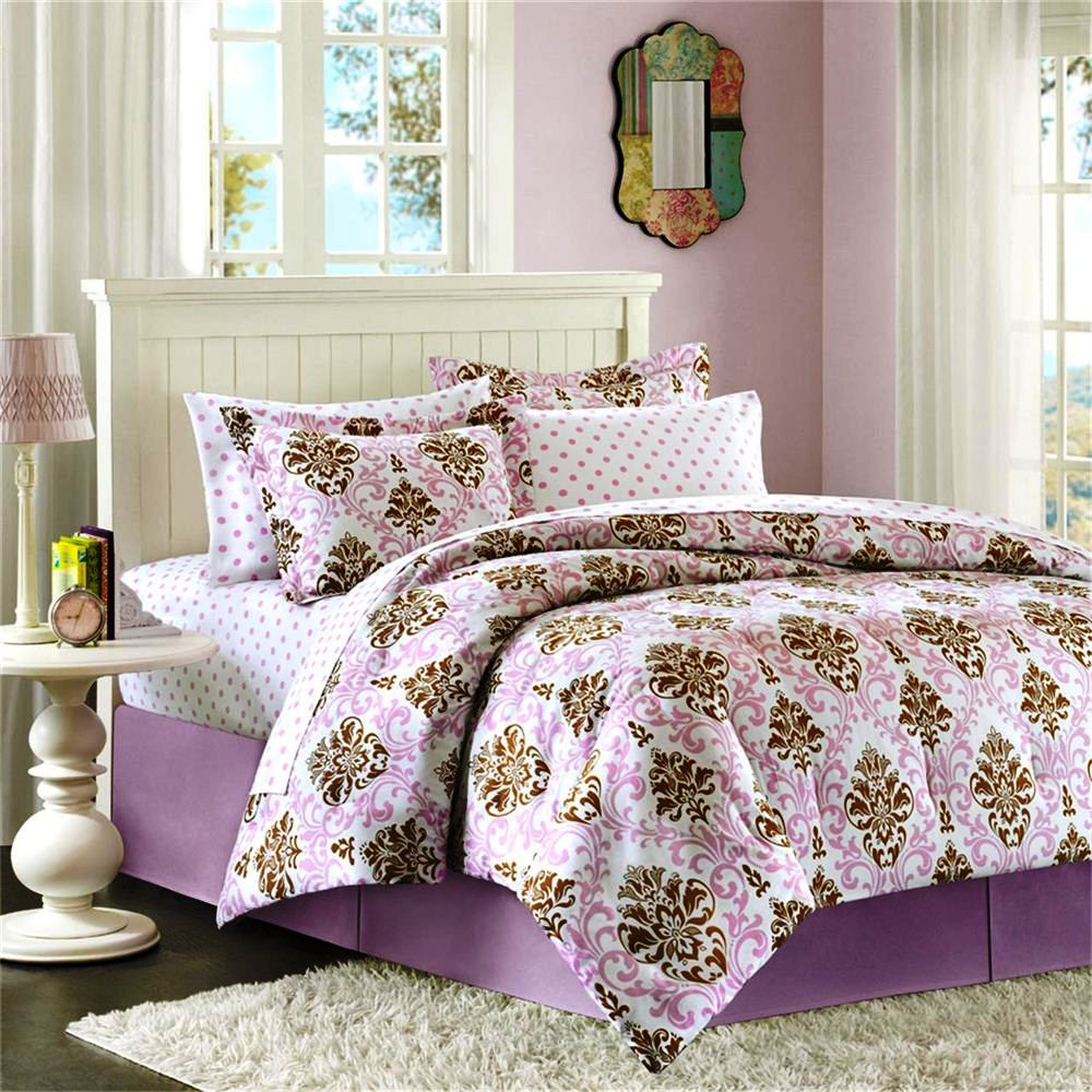Cute teen bed sets home furniture design for Home design bedding