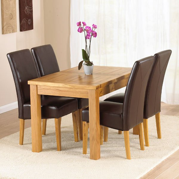 light oak dining room sets home furniture design. Black Bedroom Furniture Sets. Home Design Ideas