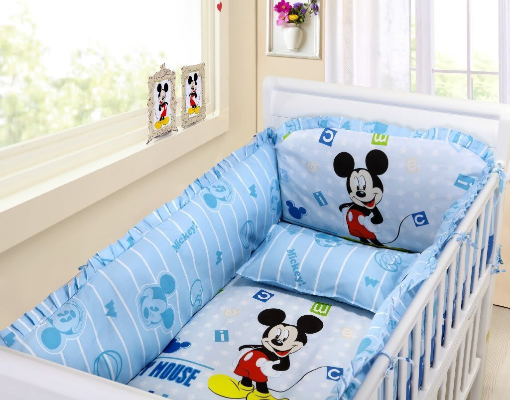 Mickey Mouse Crib Bedding Set Home Furniture Design
