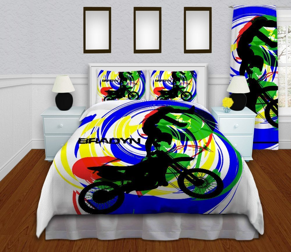 Motocross bedding sets home furniture design for Dirt bike bedroom ideas
